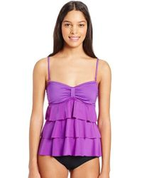 Kenneth Cole Reaction - Ruffle-tiered Tubini Swimsuit - Lyst