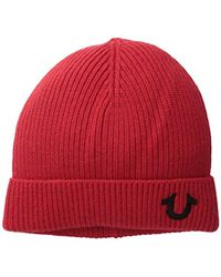 True Religion - Ribbed-knit Watch Cap - Lyst