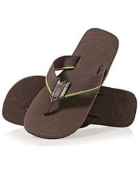 d1f89407bd2b Havaianas Urban Craft Leather Sandals in Brown for Men - Lyst