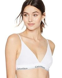 CALVIN KLEIN 205W39NYC - Modern Cotton Triangle Bra - Lyst
