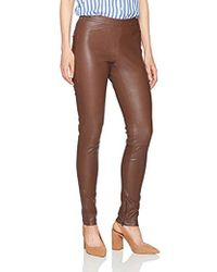 Halston - Fitted Stretch Leather Leggings - Lyst
