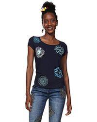 Desigual T-Shirt Short Sleeve Sonja Woman Blue Camiseta para Mujer