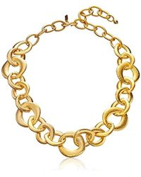"""Kenneth Jay Lane - Satin Gold Chain Link Necklace, 22"""" - Lyst"""