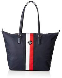 26df5e83f7d Tommy Hilfiger Poppy Chevron Puf Multicoloured Bag in Red - Lyst