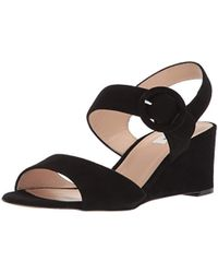 c5439cef4e L.K.Bennett Coco Leather Wedge Sandals in Metallic - Lyst
