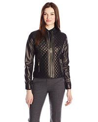 Cole Haan - Quilted Leather Jacket - Lyst