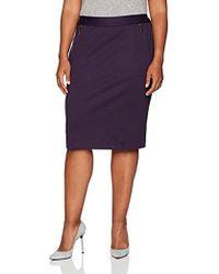 Kasper - Plus Size Ponte Skirt With Zipper Detailing - Lyst