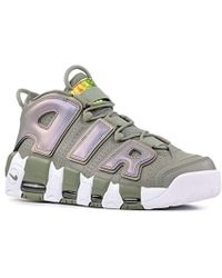 af342bf9a5390 Nike Air Wmns Air More Uptempo Shoes In Green Leather 917593-001 in ...