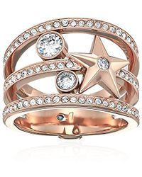 Michael Kors - Beyond Brilliant Celestial Rose Gold-tone Ring - Lyst
