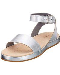 89643f0ec8e86 Clarks Botanic Poppy Womens Espadrille Sandals in Brown - Lyst