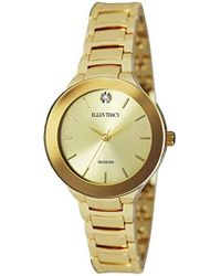 Ellen Tracy - Quartz Metal And Alloy Casual Watch, Color:gold-toned (model: Et5294gd) - Lyst