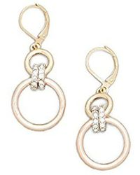 Kenneth Cole - New York Multi-tone Jeweled Earring - - Lyst