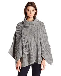 Jessica Simpson - Luxor Oversized Poncho Sweater - Lyst