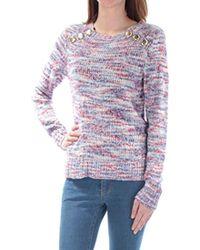 Kensie - Space Dye Punk Yarn Sweater - Lyst