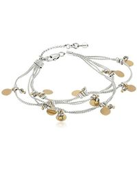 "Kenneth Cole - ""delicates"" Shaky Disc And Faceted Bead Multi-row Bracelet - Lyst"