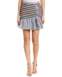 Parker Jordon Fitted Smocked Ruffle Mini Skirt - Multicolor