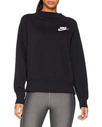cc45ebcc2bc5 Nike Sportswear Rally Crew Women s Sweatshirt In Black in Black - Lyst