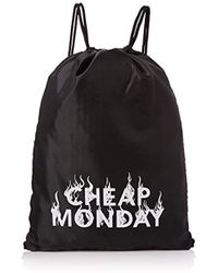 Cheap Monday - Unisex Adults' Still Pack Burning Canvas And Beach Tote Bag Black (black) - Lyst