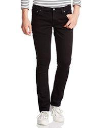 Nudie Jeans - Tight Long John Jean In Black Black - Lyst