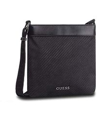 a53c2df313 Guess Global Functional Mn Flat Xbod Messenger Bag in Black for Men ...