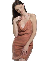 Blaque Label - Cowl Neck Dress In Ginger - Lyst