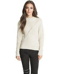 Dolce Vita - Leigh Back Zip Jumper In Natural - Lyst