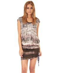 SW3 - Ariana Drawstring Mini Dress - Lyst