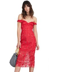 Finders Keepers - Spectrum Midi Dress In Red - Lyst