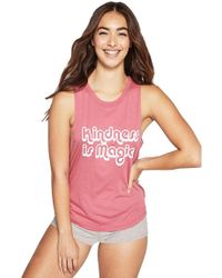 Spiritual Gangster - Kindness Is Magic Muscle Tank In Pink Lotus - Lyst