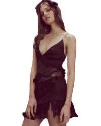 For Love & Lemons - Rosalyn Paneled Tank Dress In Noir - Lyst
