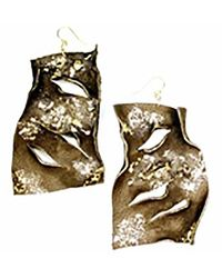 Sibilla G Jewelry - Sibilla G Leather Statement Earrings In Dark Brown - Lyst