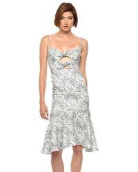 Karina Grimaldi - Nelia Print Dress Small Leaf - Lyst