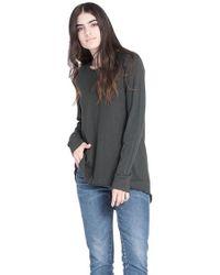 Wilt Clothing - Wilt Long Sleeve Raw Easy Crew In Azure - Lyst