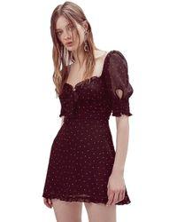 For Love & Lemons - Lucky Dice Mini Dress In Twilight - Lyst