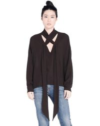 Wilt Clothing - Wilt Scarf Neck Blouse In Black - Lyst
