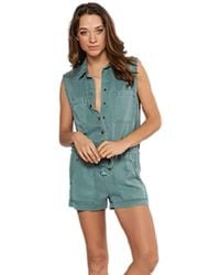 Young Fabulous & Broke - Erwin Romper In Vintage Teal - Lyst