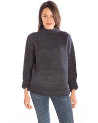 Line Knitwear | Lucien Funnel Neck Jumper In Midnight | Lyst