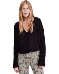 Free People - Popcorn Pullover In Black - Lyst