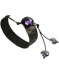 Sibilla G Jewelry - Sibilla G Leather Bracelet With Crystals - Lyst