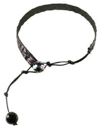 Sibilla G Jewelry - Sibilla G Alligator Embossed Leather Choker - Lyst