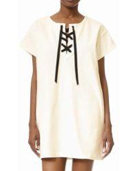 St. Roche - Danny Short Sleeve Tie Dress - Lyst
