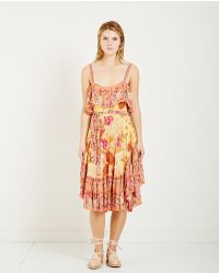 Spell & The Gypsy Collective - Siren Song Strappy Dress Marigold - Lyst