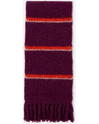 AMI - Contrasted Stripes Scarf - Lyst
