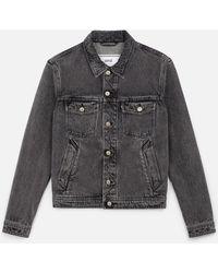 AMI - Stonewashed Denim Jacket - Lyst