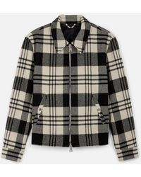 AMI - Snap Buttoned Zipped Jacket - Lyst