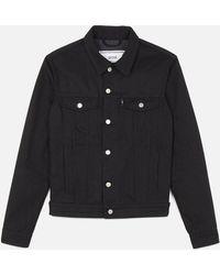 AMI - Bi Material Denim Jacket - Lyst