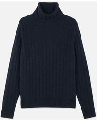 AMI - Turtleneck Flat Ribbed Sweater - Lyst
