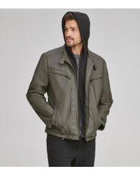 Andrew Marc - Corbett Faux Leather Moto Jacket - Lyst