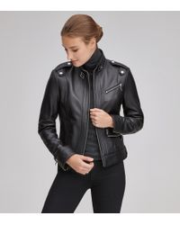 Andrew Marc - Rego Classic Leather Racer Jacket - Lyst