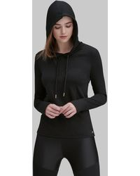 Andrew Marc - Hooded Active Pullover Top - Lyst